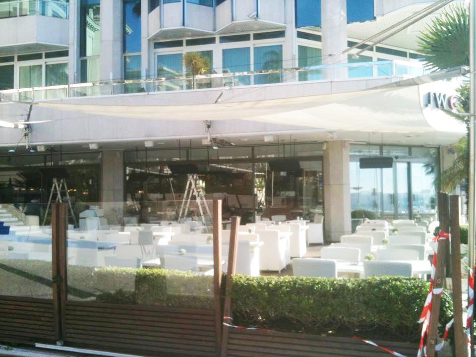 Terrasses MARIOTTE à Cannes chauffées avec VARMIGO suspendus