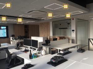 Chauffage BSH avec éclairage LED intégré